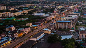 День к nighttime-упущению города Nakhon Ratchasima сток-видео