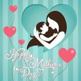 День матерей на предпосылке нашивки Стоковые Фотографии RF