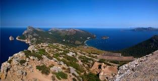 День Мальорки панорамный Стоковые Фото