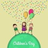День международных детей иллюстрация вектора