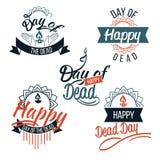 День мертвого логотипа с комплектом литерности иллюстрация штока