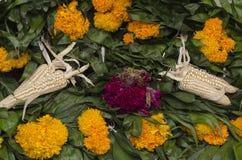 День мертвого предлагая алтара стоковое фото