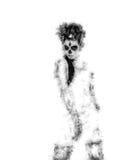 День мертвой девушки Изображение произведенное цифров иллюстрация вектора