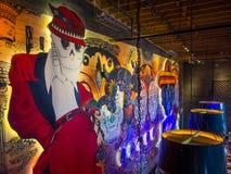 День мертвой настенной росписи El Catrin Destileria, район ликеро-водочного завода r r стоковое фото