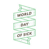 День мира больной эмблемы приветствию Стоковое фото RF