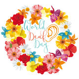 День мира глухой иллюстрация вектора