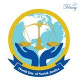 День мира социальной справедливости бесплатная иллюстрация