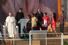 День молодости мира 2016 - Папа Фрэнсис стоковая фотография