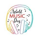 День музыки мира иллюстрация штока