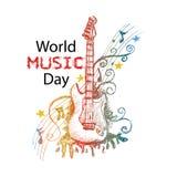 День музыки мира бесплатная иллюстрация