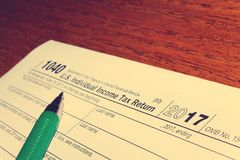 День 11 налога Стоковые Изображения