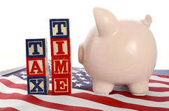 День налога США, 15-ое апреля, концепция Стоковые Изображения RF