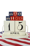 День налога США, 15-ое апреля, концепция Стоковые Фотографии RF