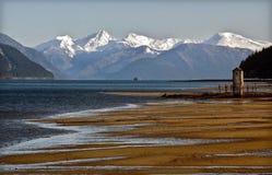 День на песчаном пляже, Аляска стоковое изображение