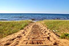 День на пляже Стоковые Фотографии RF