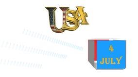 День независимости, анимация видеоматериал