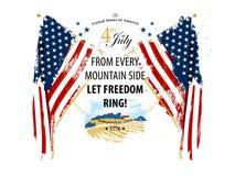 День независимости 4-ая из карточки в июле стоковые изображения