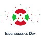 День независимости Бурунди знамя патриотическое также вектор иллюстрации притяжки corel Стоковые Изображения