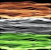 День независимости Индии линий предпосылки Индийская иллюстрация вектора фона флага Красочная текстура в grunge Стоковое Изображение RF
