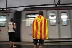 День независимости Каталонии Стоковое фото RF