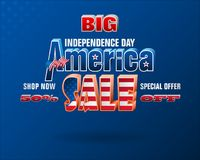 День независимости, коммерчески события и продажи Стоковое Изображение RF