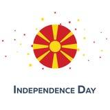День независимости македонии знамя патриотическое также вектор иллюстрации притяжки corel Стоковые Изображения RF