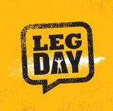 День ноги Концепция элемента разминки и дизайна спортзала фитнеса Творческий изготовленный на заказ знак вектора на предпосылке G иллюстрация штока