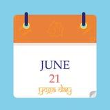 День 21-ое июня йоги Стоковые Изображения