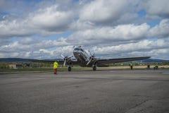 День 11-ое мая 2014 полета на Kjeller (airshow) Стоковое фото RF