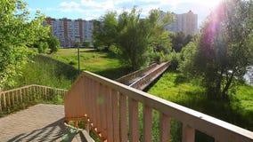 День отснятого видеоматериала парка города Москвы видеоматериал