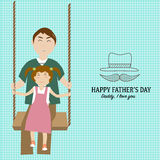 День отца медицинской рабочей зоны co conceptHappy с линейным символом стиля Стоковые Фотографии RF