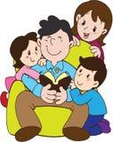 День отца с семьей влюбленности Стоковая Фотография