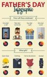 День отцов Infographics головка дерзких милых собак персонажа из мультфильма предпосылки счастливая изолировала белизну усмешки Стоковые Изображения