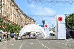 День памяти погибших в войнах Второй Мировой Войны на Khreshchatyk Стоковое Изображение