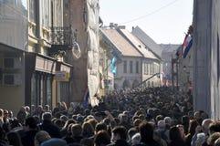 День памяти погибших в первую и вторую мировые войны Вуковара стоковые фотографии rf