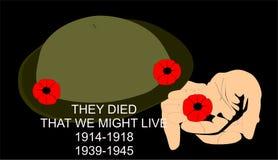 День памяти погибших в первую и вторую мировые войны Стоковые Фотографии RF