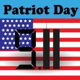 День патриота 11-ое сентября Мы никогда не будем забывать Стоковое Фото