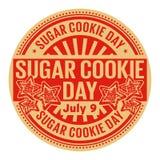 День печенья сахара, 9-ое июля иллюстрация вектора