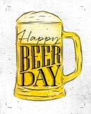 День пива плаката бесплатная иллюстрация