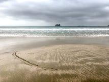 день пляжа пасмурный пустой Стоковые Изображения RF