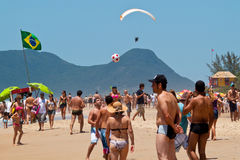 День пляжа Florianopolis Стоковое Изображение RF