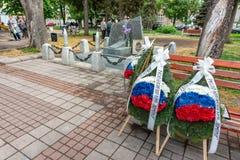 День победы в Второй Мировой Войне в болгарине Pomorie в 2018 Стоковая Фотография RF