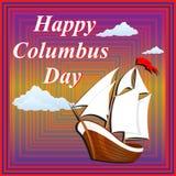 День поздравительной открытки к Колумбусу Стоковые Фото