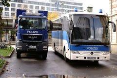День полицейской машины немецкого единства Стоковое Изображение