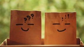 День предпосылки сада бумажной коробки сток-видео