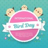 День птицы IlInternational Иллюстрация вектора на праздник Космос для текста Стоковая Фотография RF