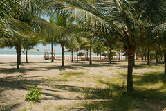 День пляжа в Puerto Lopez 3 Стоковые Изображения RF