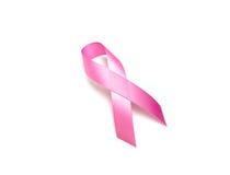 День рака мира: Лента осведомленности рака молочной железы на белом Backg Стоковое Изображение RF