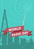 День радио мира иллюстрация штока