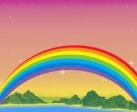 День радуги фантазии Стоковое Изображение